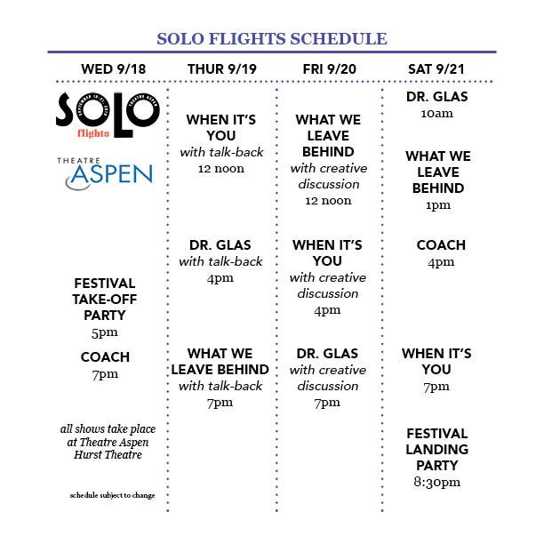 Theatre Aspen | Solo Flights